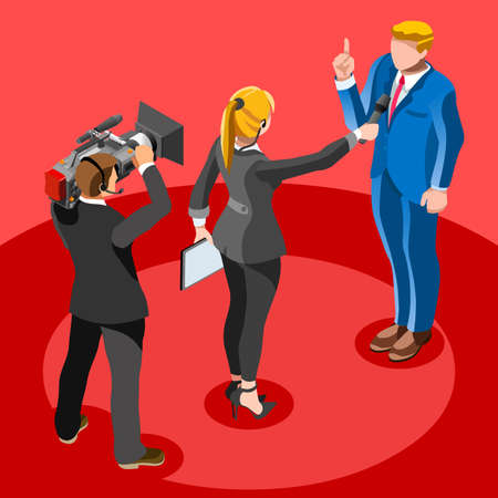 convention: Election infographic.Debate party convention hall.Conference business meeting lecture.Congress theatre auditorium audience.Politic delegate competitors affiliates crowd rally.Vector isometric people