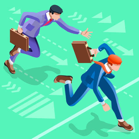 ambitious: Business concept infographic vector design. Businessperson 3D character flat ambitious man. Career ambition changing role. Winning Startup group training goal setting and team management illustration