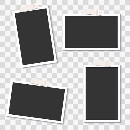 Plantillas de marcos de fotos de vectores para sus fotos de moda. Foto de archivo - 81454780