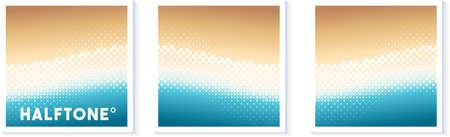 Halftone texture vector wave illustration