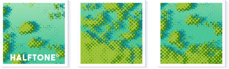 Halftone texture vector illustration mangrove forest map