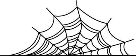 Halloween vector spinnenweb