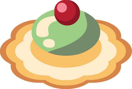 Kerst peperkoek koekjes sticker illustratie
