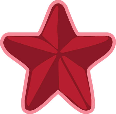 Christmas star sticker illustration