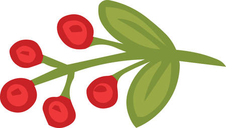 Christmas mistletoe sticker icon