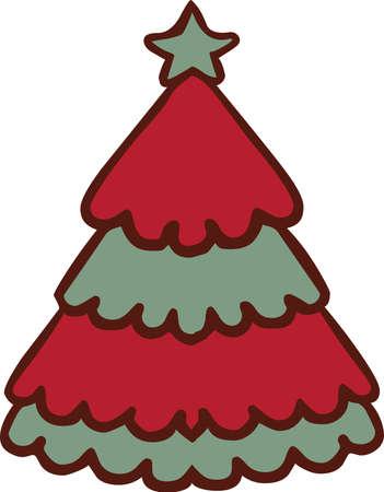 Icono de etiqueta de árbol de Navidad Foto de archivo - 88614768
