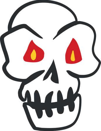 Skull Halloween sticker icon