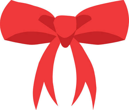 Christmas bow sticker icon