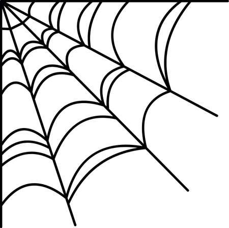 Halloween spiderweb grens Stock Illustratie