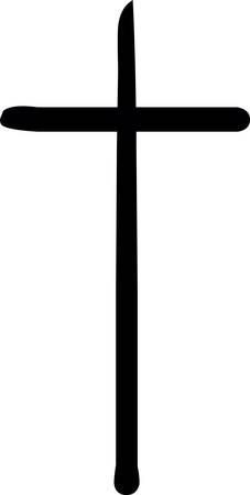 Tombstone cross Halloween sticker icon