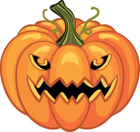 Pumpkin Halloween sticker icon