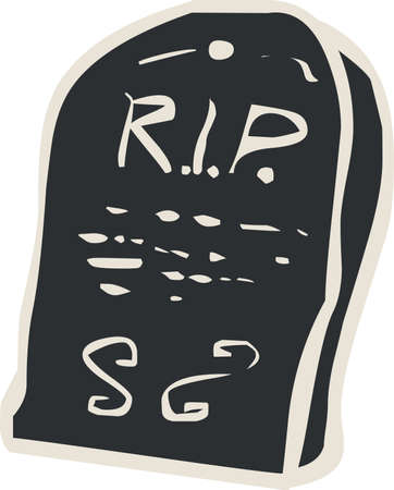 廃棄 (tombstone) ハロウィン アイコン  イラスト・ベクター素材