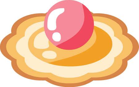 Kerst peperkoek koekjes sticker pictogram op witte achtergrond, vectorillustratie.