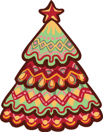 Icono del árbol de Navidad Foto de archivo - 88615081