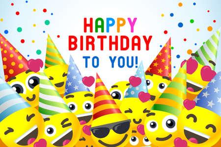 Wszystkiego najlepszego z okazji urodzin banner 3D na imprezę dla dzieci. Ilustracje wektorowe