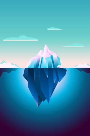 Ultra Violet Iceberg Background