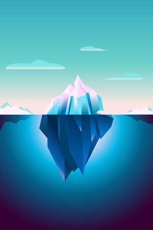 Ultraviolette ijsbergachtergrond Stock Illustratie