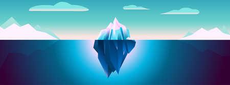 ウルトラバイオレット氷山の背景