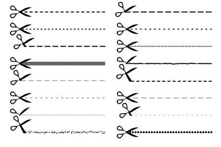 Scissor dotted line set.
