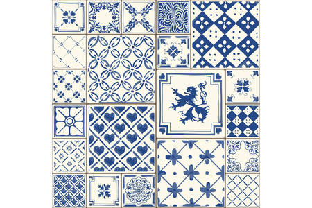 Tile illustration. Decor vector tiled illustration. Tiled original decoration with motives repetition.