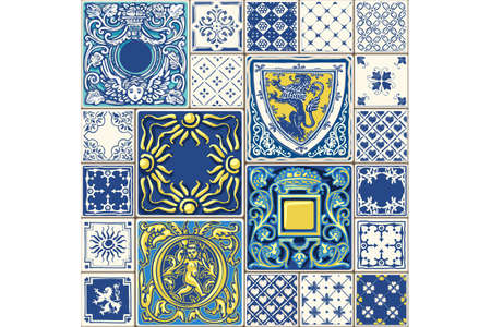 Tile illustration Decor vector tiled illustration. Tiled original decoration with motives repetition. Illustration