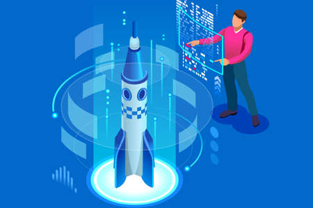 Plan for new start up, concept of income and success. Startup, new company, idea for website development, web banner, infographics or hero images. Flat isometric vector illustration.