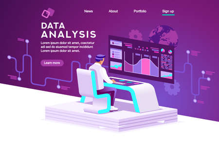 Interface to tracking website interaction. Software data interacting with infographic, database or desktop graphs. Retail management, order chart of virtual shopping. Statistics vector illustration Vetores