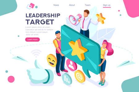 Handshow-Geste, bestes konzeptionelles Ziel. Score-App, kann für Webbanner, Infografiken und Heldenbilder verwendet werden. Flache isometrische Vektorillustration lokalisiert auf weißem Hintergrund Vektorgrafik