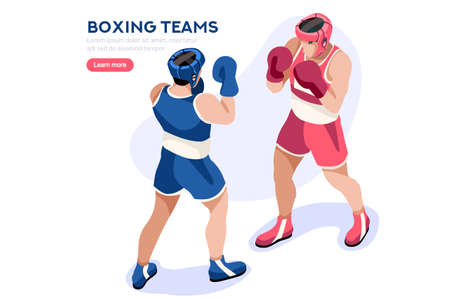 Male of person celebrate summer games athletics medal. Sportive people celebrating boxing team. boxer athlete symbol victory celebration. Sports cartoon symbolic flat vector illustration.