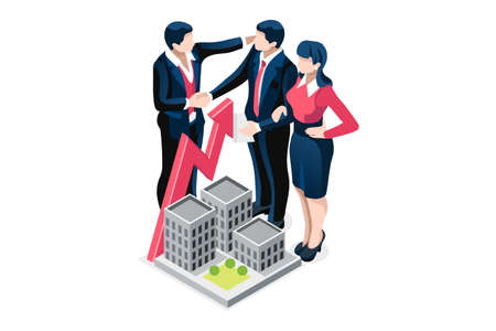 Symbolic questions, marks of answers, people question concept. Support mark of online support, ask concept exclamation symbol of question. Man and woman character Isometric Illustration Vector Design Foto de archivo - 151349236