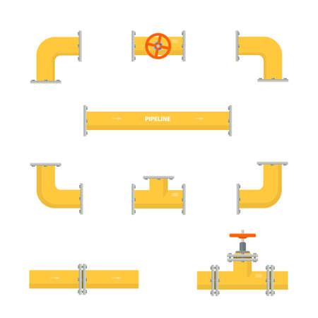 Kit set of pipelines. 免版税图像 - 85813727