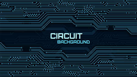Technology background with circuit board. Sci-fi tech concept design. Vector illustration.
