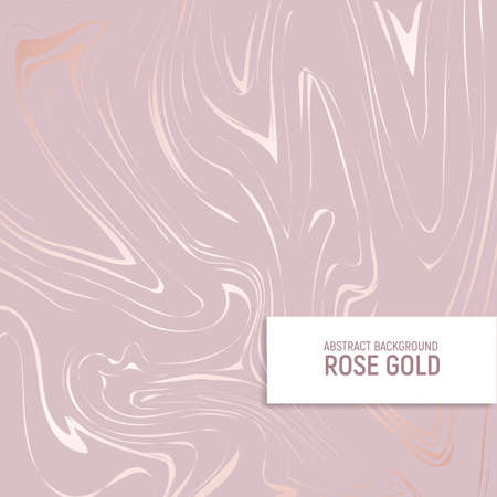 Rose gold. Texture of marble with imitation of rose gold. Elegant background for for the design of invitations, covers and other surfaces. Vector illustration.