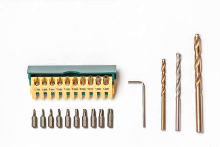 stainless steel range: torx, drill, hexahedron