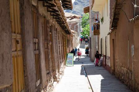 pisac: PISAC, PERU OCTOBER 6, 2015: View of a street in Pisac, Peru