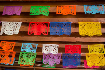 tradition: Mexican typical decorative papers called Papel picado