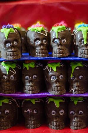 Chocolate skulls Stok Fotoğraf - 82839110