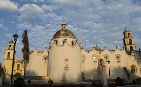 ATOTONILCO, GUANAJUATO, MEXICO- DECEMBER 26, 2018: Facade of sanctuary of Jesus Nazareno de Atotonilco, Atotonilco, Guanajuato Mexico in a sunny day. UNESCO world heritage site