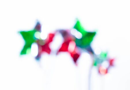Pinwheels background. Out of focus image of pinwheels, decoration for Mexican Independence Day Stok Fotoğraf