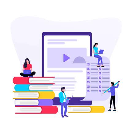 Online training, e-learning for social media.
