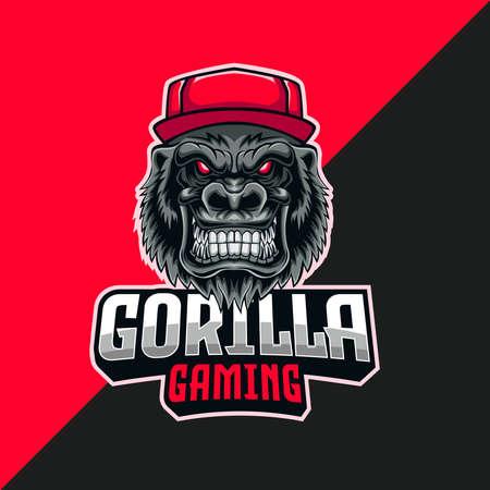 gorilla gaming esport logo. template design for esport team
