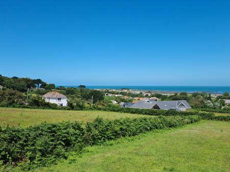 Rue du Dos d'AÌ'ne, Guernsey Channel Islands 版權商用圖片