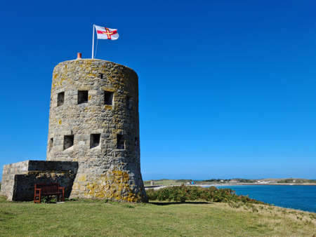 L'Ancresse Loophole Tower no 5, Guernsey Channel Islands Imagens