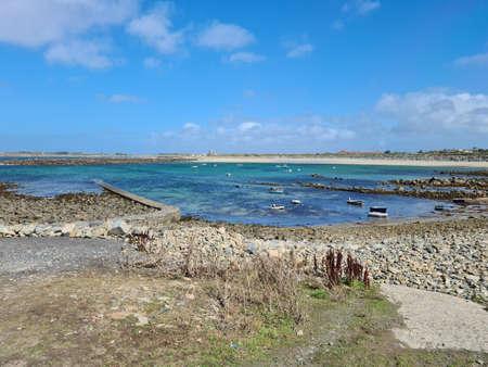 Port Grat Beach, Guernsey Channel Islands Banque d'images