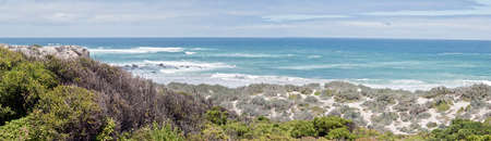 this is a landscape of the dunes at seal bay on Kangaroo Island.  It was a cold windy day with rough seas Reklamní fotografie