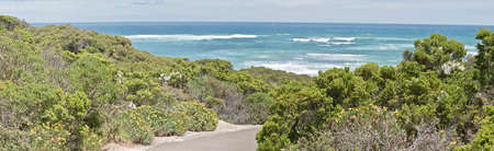 this is a landscape of seal bay on Kangaroo Island.  It was a cold windy day with rough seas Reklamní fotografie
