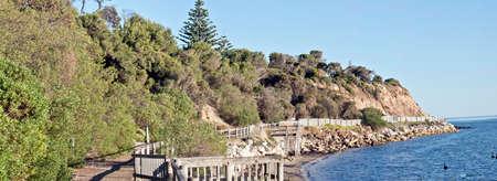the path takes you down near the water at Kingscote, kangaroo Island South Australia