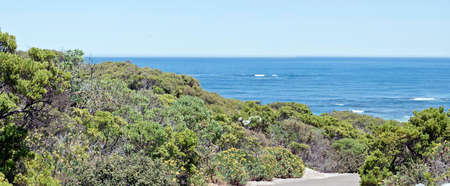 this is a landscape of Seal Bay on Kangaroo Island, Australia