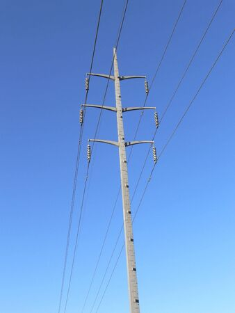 isolator insulator: High voltage power lines and pole