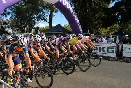 toowoomba: Tour of Toowoomba criterium start line 2013